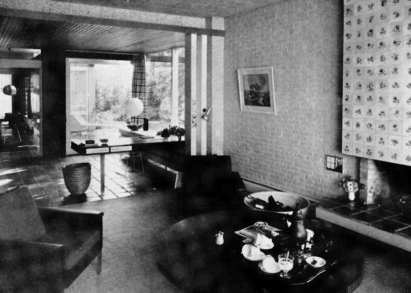 Groningen hondsruglaan bj 1960 architect k m h bulder for Ministre interieur 1960